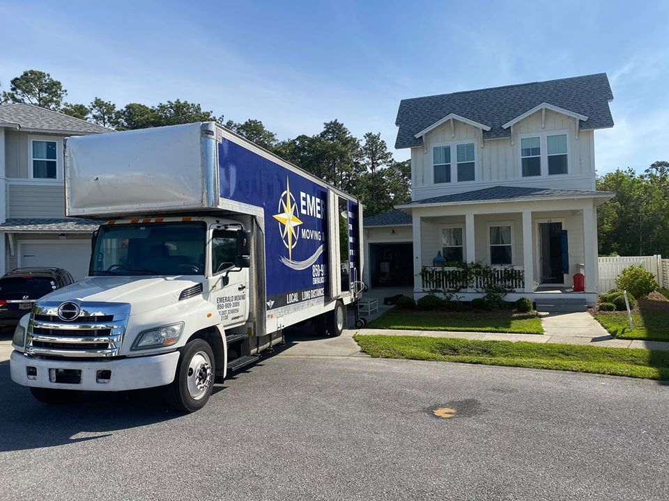 This is Emerald Coast Moving & Storage truck in Florida.