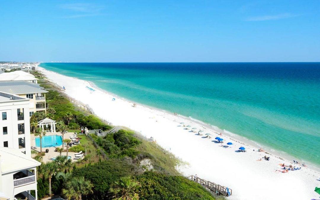 An image of Santa Rosa Beach, FL coastline
